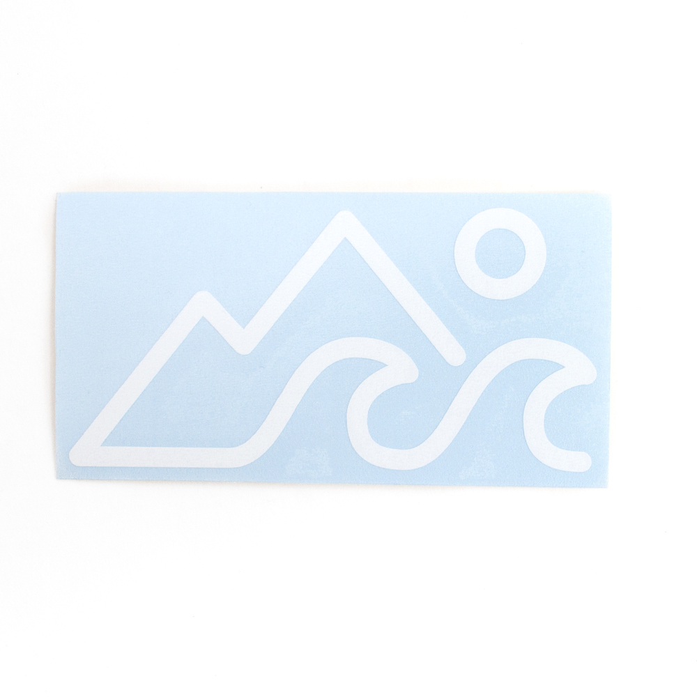 Sticker, Northwest Theme, Mountain, Wave, Sun